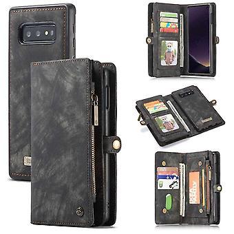 CaseMe Vintage Wallet Case Hoesje Samsung Galaxy S10e - Grijs