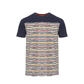 Bowman Navy Striped Pattern T-Shirt
