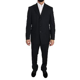 Black two piece 3 button wool-suit