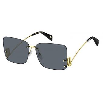 Sunglasses Women's borderless black/gold