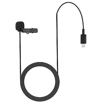 REYTID Lavalier Lapel Clip on Microphone Compatible with iPhonee and iPads -  3m Professional Condenser Mic