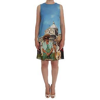 Dolce & Gabbana Multicolor SANREMO Shift Sidenklänning