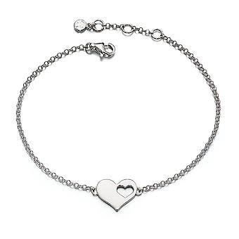 Little Star Poppy Silver Cut Out Heart Dames Armband