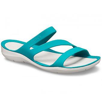 Crocs Femmes Swiftwater Sandal Juniper/Pearl White