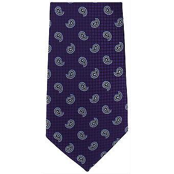 Michelsons London Kiefer extralangen Polyester Krawatte - lila