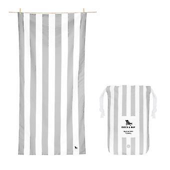 Dock & bay quick dry towel - cabana - goa grey