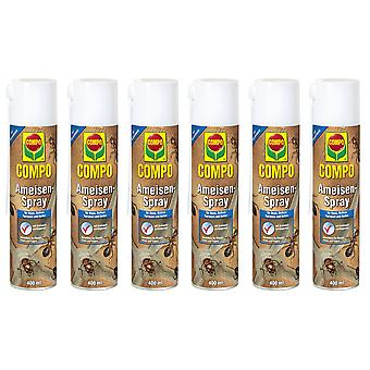 Sparset: 6 x COMPO Ants Spray, 400 ml