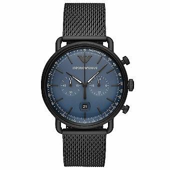 Emporio Armani AR11201 Chronograph Date Mesh Bracelet Strap Men's Watch