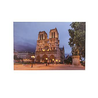 Jandei LED frame met 8 LED van Notre Dame de Paris Cathedral 60 x 40 2 batterijen AA