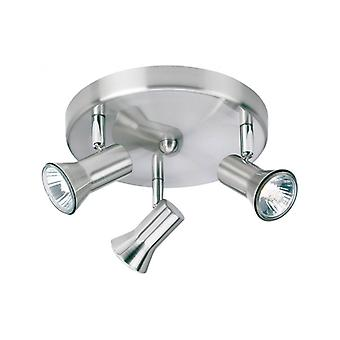 Ceiling Light 3 Bulbs Magnum, Brushed Steel