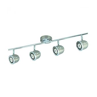 Palmer Ceiling Light 72cm Chrome And Satin Silver, 4 Spots