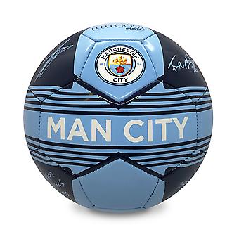 Manchester City FC Official Gift Size 4 Signature Crest Football Blue