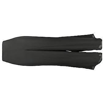 Masseys Plus Set w/ Sleeveless Top & Wide Leg Pants Black