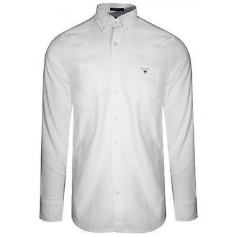GANT Valkoinen Oxford Regular Paita