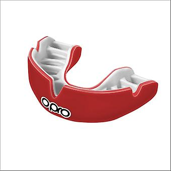 Opro power fit mouth guard red/white
