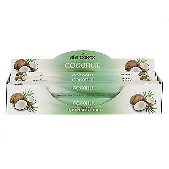 Éléments Coconut Encens Sticks (6 Packs)