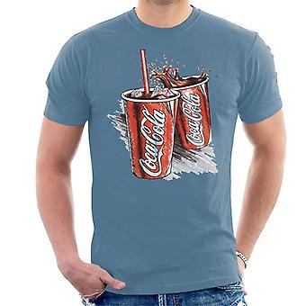 Coca Cola retro Coke Cups T-shirt til mænd