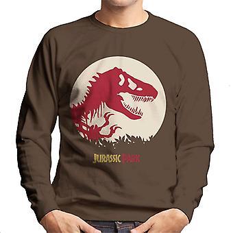 Jurassic Park Red Silhouette Men's Sweatshirt