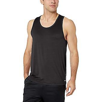 Essentials Men & apos;s Tech Stretch Performance Tank Top Shirt, أسود, X-Large