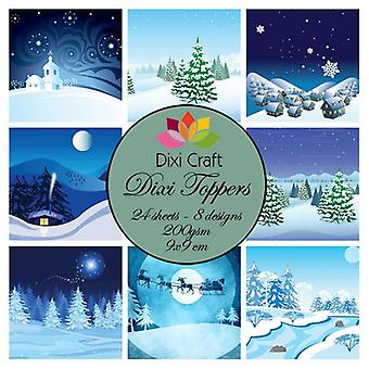 Dixi Craft Dixi Toppers 9x9cm Winter Snow Scene