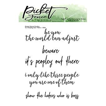 Picket Fence Studios It's Peopley Out There Clear Stamps
