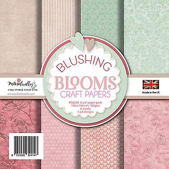 Polkadoodles Blushing Blooms 6x6 Inch Paper Pack