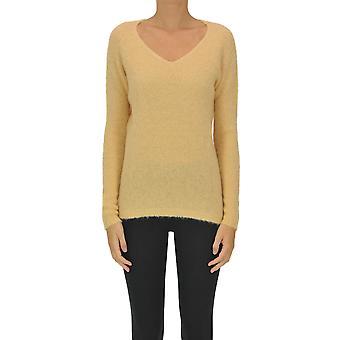 Luna Bi Ezgl526004 Women's Orange Wool Sweater