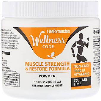 Life Extension, Wellness Code, Muscle Strength & Restore Formula, 3.32 oz (94.2