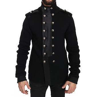 Dolce & Gabbana Svart Ull Strikket Dg Logo Jakke JKT2297-48