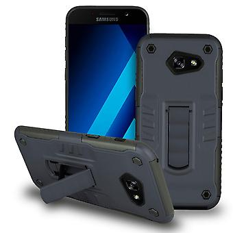 Shell with Kickstand for Samsung Galaxy A7 (2017) Plastic Hybrid Outdoor Navy Blue