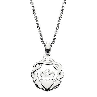 Heritage Sterling Silver Small Claddagh Twist Wreath Pendant 93004HP026