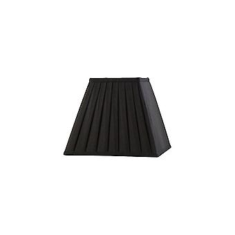 Square Pleated Fabric Shade Black 100, 200mm x 156mm