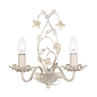 Endon Lullaby - 2 Lumières intérieures Mur Lumière Claire, Crème avec Or brossé, E14