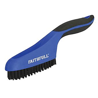 Faithfull Scratch Brush Soft Grip 4 x 16 Row Plastic FAISB164SP