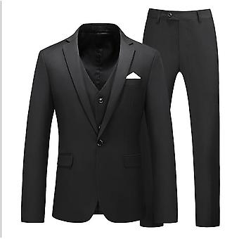 Mens Suits One Button Slim Fit 3 Stuks Pak