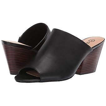 Bella Vita Womens Kathy Leather Peep Toe Casual Slide Sandals