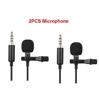 Mini Portable Clip-on Lapel Lavalier Condenser Mic Wired Microphone For Iphone Ipad Dslr Camera Computer