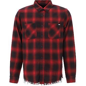 Amiri W0m04724pdblkred Men's Zwart/rood Katoenen Shirt