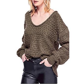 Free People | Crashing Waves Wool Crochet Pullover Sweater