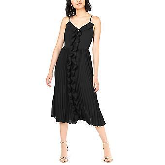 Bar III | Ruffled Pleated-Skirt Fit & Flare Dress
