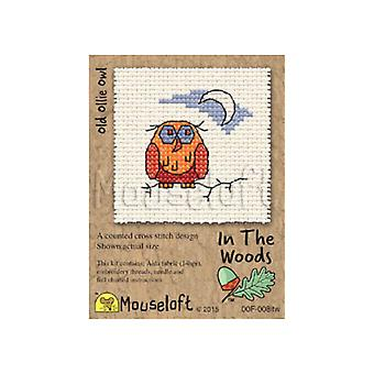 Old Ollie Owl In the Woods Mini Counted Cross Stitch Kit