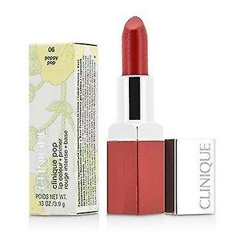 Clinique Pop Lip Colour + Primer - # 06 Poppy Pop 3.9g or 0.13oz