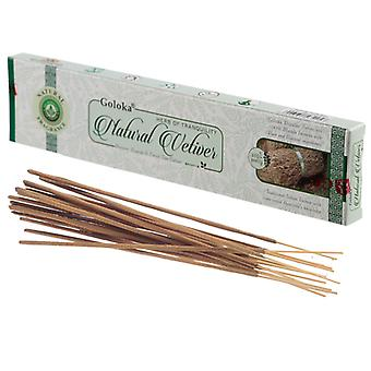 Goloka Incense Sticks - Natural Vetiver X 12 Pack