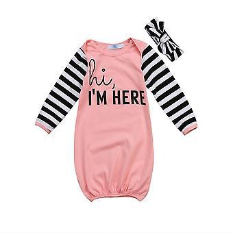 Witam Jestem tutaj printed-sleepwear dla noworodków