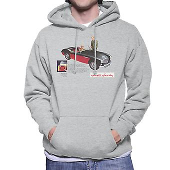 Austin Healey Black 100 Six British Motor Heritage Men's Hooded Sweatshirt