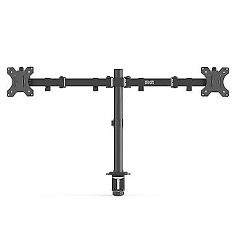 Home office dual monitor stand full motion mount height adjustability for 13