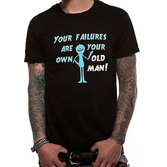 Rick And Morty Unisex Adultes M. Meeseeks Échec Design T-Shirt
