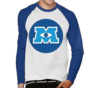 Pixar Monstre Inc University Logo Menn's Baseball Langermet T-skjorte