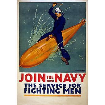 Первая мировая война присоединиться к военно-морской флот службы для борьбы с мужчин