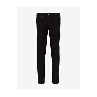 ARMANI EXCHANGE Cotton Slim Fit Black Jeans